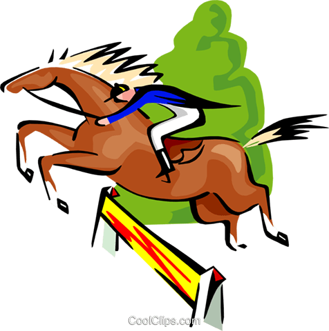 sports, horse jumping, equestrian Royalty Free Vector Clip Art illustration spor0336