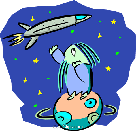 space travel Royalty Free Vector Clip Art illustration tran0881