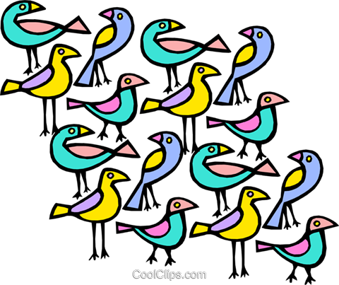 exotic birds Royalty Free Vector Clip Art illustration anim1822