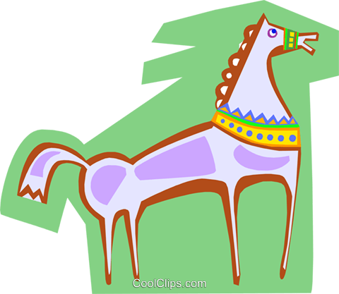 horse Royalty Free Vector Clip Art illustration anim1828
