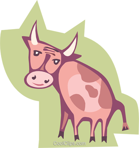 cow Royalty Free Vector Clip Art illustration anim1829
