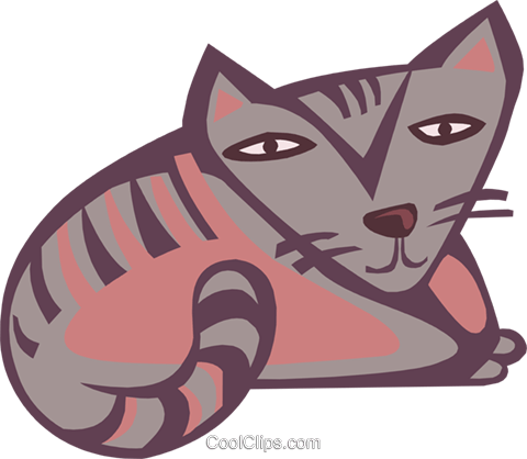 cat Royalty Free Vector Clip Art illustration anim1831