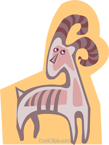 antelope Royalty Free Vector Clip Art illustration anim1832