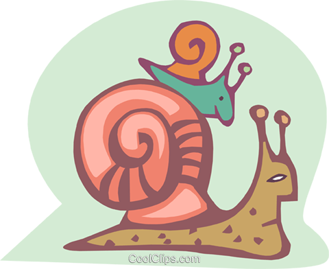 snails Royalty Free Vector Clip Art illustration anim1836