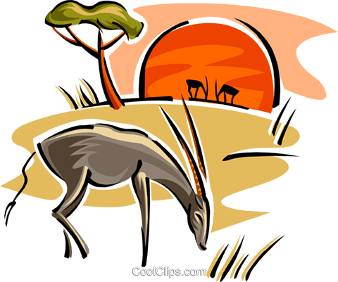 antelope Royalty Free Vector Clip Art illustration anim1839