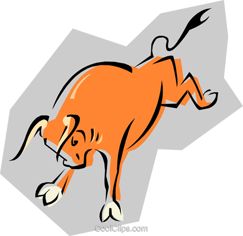 bull Royalty Free Vector Clip Art illustration anim1844