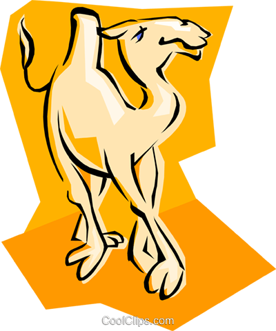 camel Royalty Free Vector Clip Art illustration anim1845