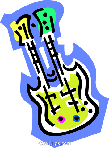 double guitar Royalty Free Vector Clip Art illustration ente0086