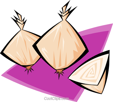 onions Royalty Free Vector Clip Art illustration food0976