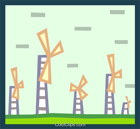 windmills Royalty Free Vector Clip Art illustration indu0840