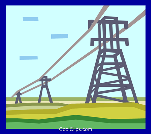 electric towers Royalty Free Vector Clip Art illustration indu0845