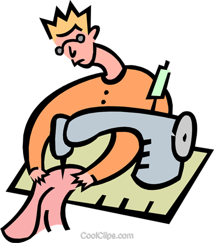 sewing Royalty Free Vector Clip Art illustration peop2900