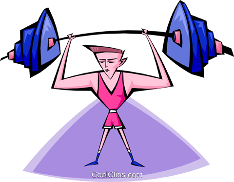 weight lifting Royalty Free Vector Clip Art illustration peop2902