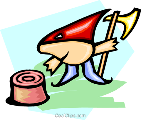 cartoon executioner Royalty Free Vector Clip Art illustration peop2906