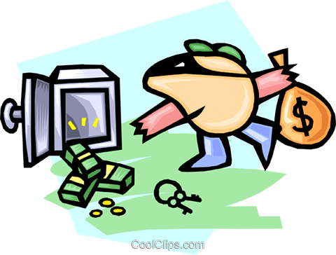 cartoon robber Royalty Free Vector Clip Art illustration peop2907