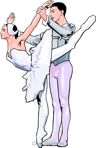 ballet Royalty Free Vector Clip Art illustration peop2913