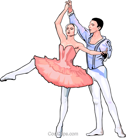 ballet Royalty Free Vector Clip Art illustration peop2914