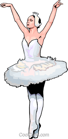 ballet Royalty Free Vector Clip Art illustration peop2915