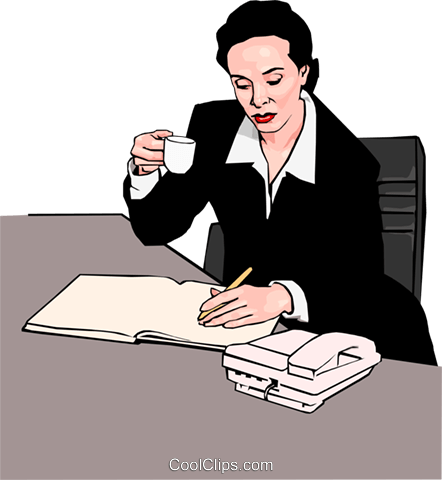 businesswoman Royalty Free Vector Clip Art illustration peop2917