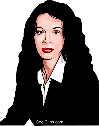 businesswoman Royalty Free Vector Clip Art illustration peop2920