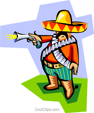 old world Mexico Royalty Free Vector Clip Art illustration peop2941