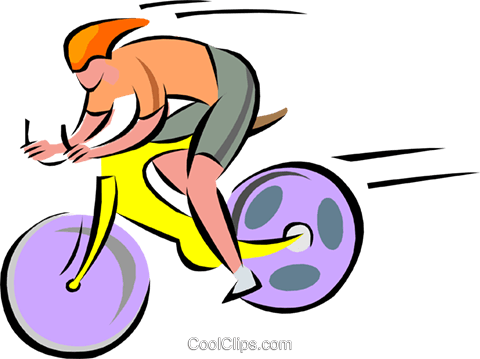cyclist Royalty Free Vector Clip Art illustration spor0348