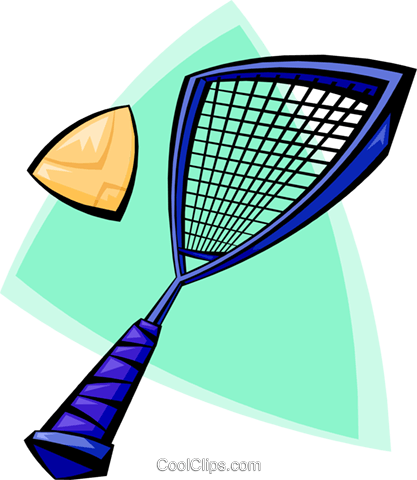 racket sports Royalty Free Vector Clip Art illustration spor0350