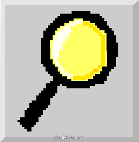 magnifying glass Royalty Free Vector Clip Art illustration symb0019