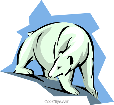 polar bear Royalty Free Vector Clip Art illustration anim1846
