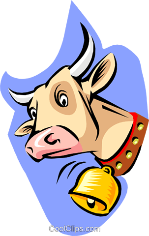 cow Royalty Free Vector Clip Art illustration anim1848