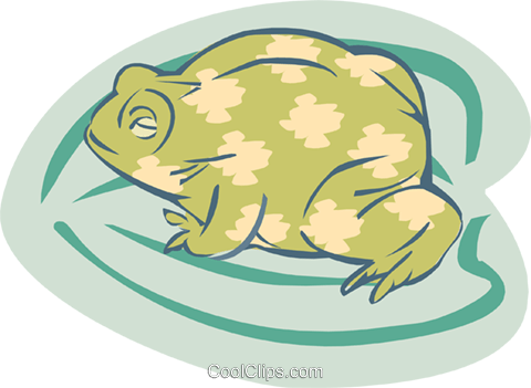 frog Royalty Free Vector Clip Art illustration anim1850