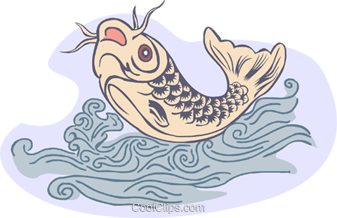 carp Royalty Free Vector Clip Art illustration anim1851
