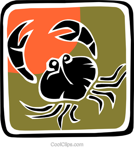 crab Royalty Free Vector Clip Art illustration anim1864