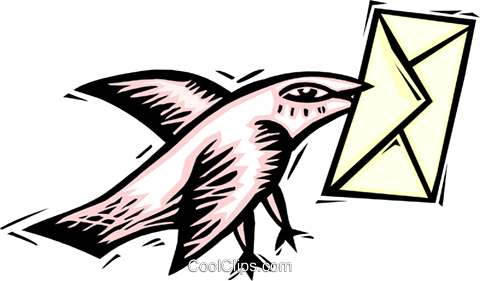 carrier pigeon Royalty Free Vector Clip Art illustration busi1515
