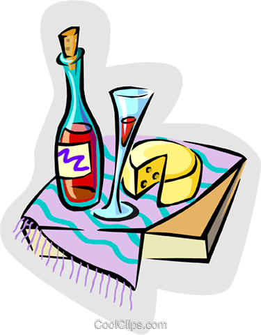 wine and cheese Royalty Free Vector Clip Art illustration food0990