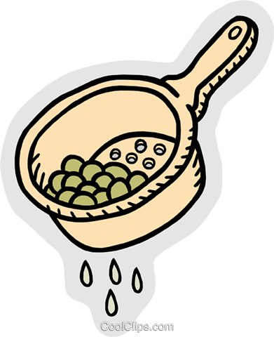 strained peas Royalty Free Vector Clip Art illustration food0999