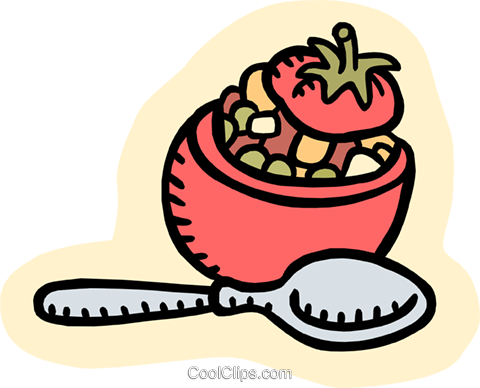 stuffed tomato Royalty Free Vector Clip Art illustration food1008