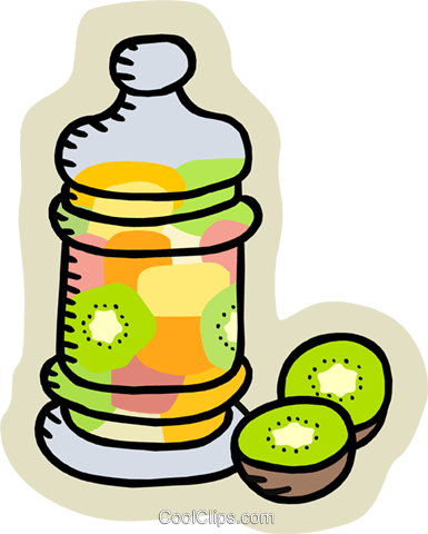 kiwi in a jar Royalty Free Vector Clip Art illustration food1009