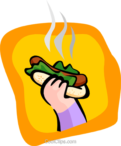 hotdog Royalty Free Vector Clip Art illustration food1019