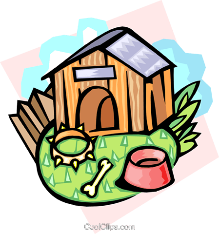doghouse Royalty Free Vector Clip Art illustration hous1246