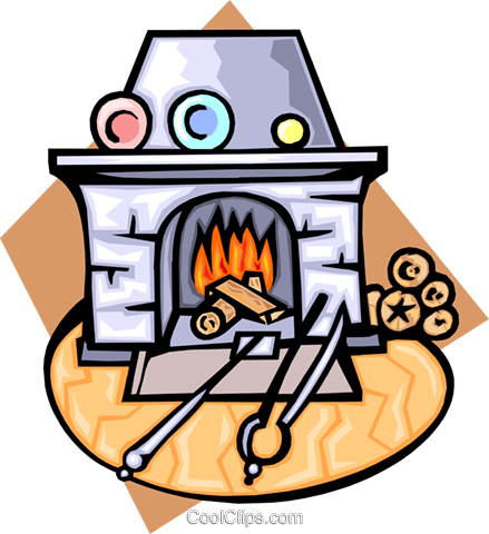 fireplace Royalty Free Vector Clip Art illustration hous1247