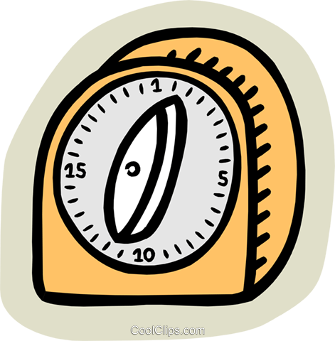 kitchen timer Royalty Free Vector Clip Art illustration hous1255