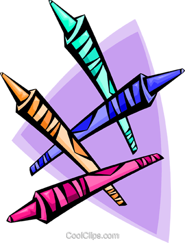 crayons Royalty Free Vector Clip Art illustration hous1256
