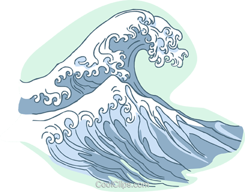 waves Royalty Free Vector Clip Art illustration natu0824