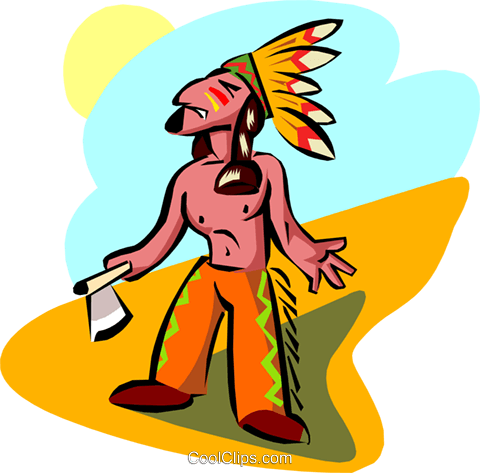 old world native Indian Royalty Free Vector Clip Art illustration peop2945