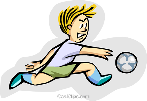 soccer Royalty Free Vector Clip Art illustration peop2949
