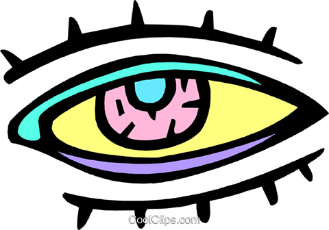 eye Royalty Free Vector Clip Art illustration peop2955