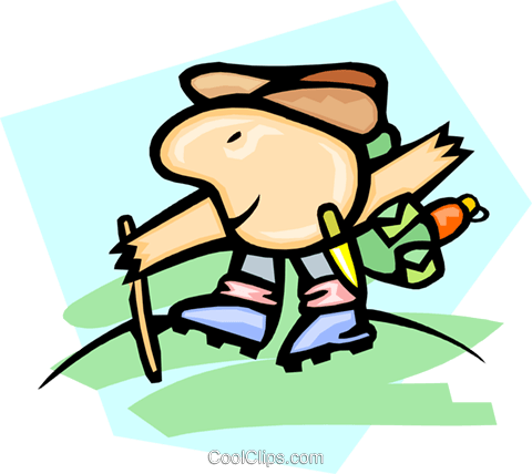 hiker Royalty Free Vector Clip Art illustration peop2958