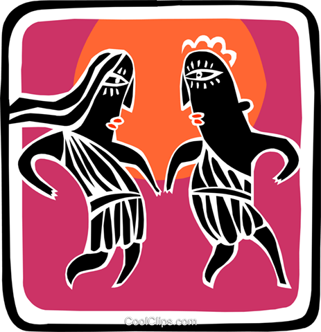 dance Royalty Free Vector Clip Art illustration peop2984