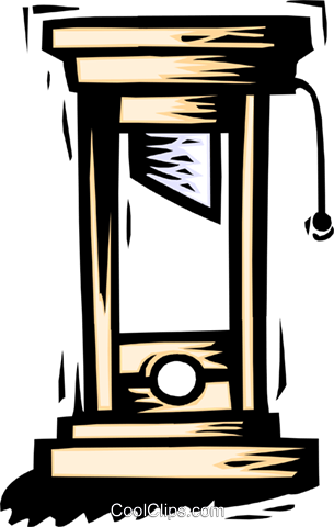 guillotine Royalty Free Vector Clip Art illustration symb0027